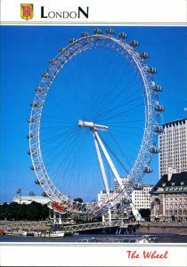 Postcard London London Eye (Millennium Wheel) Riesenrad a.d. Themse 2005