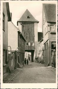 Ansichtskarte Kronberg / Cronberg (Taunus) Strassen Partie am Eichentor 1950