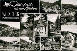 Wirsberg (Oberfranken) Fichtelgebirge  Schwimmbad, Rathaus-Sparkasse uvm. 1960