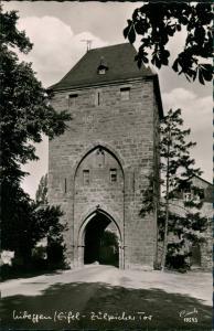 Ansichtskarte Nideggen (Eifel) Stadtteilansicht Partie am Zülpicher Tor 1960