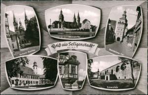 Seligenstadt Mehrbild-AK ua. Prälatur, Kaiserpfalz, Basilika uvm. 1960