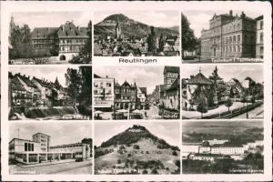 Reutlingen MB ua. Schwimmbad, Gymnasium, Infanterie Kaserne uvm. 1960