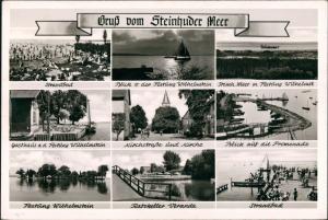 Steinhude-Wunstorf 9 Ansichten Mehrbild-AK ua. Ratskeller Kirchstrasse  1960