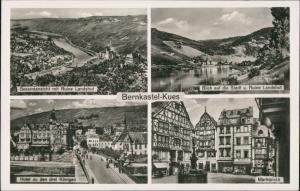 Bernkastel-Kues Berncastel-Cues Mehrbild Hotel 3 Königen, Ruine Landshut 1946