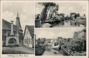 Ansichtskarte Estebrügge-Jork Mehrbild-AK 3 Dorf-Ansichten (Altes Land) 1968