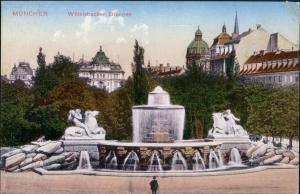 Ansichtskarte München Wittelsbacher Brunnen 1910