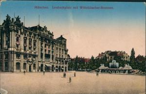 Ansichtskarte München Lenbachplatz mit Wittelsbacherbrunnen 1913