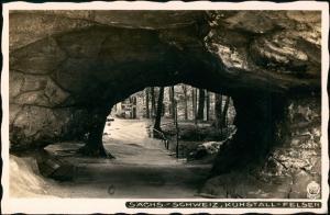 Kirnitzschtal-Sebnitz Kuhstall,  Sächsische Schweiz 1928 Walter Hahn:281