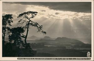 Rathen vom Brand gegen Rauenstein Stimmungsbild 1932 Walter Hahn:3566