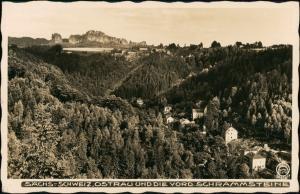 Ansichtskarte Ostrau-Bad Schandau Stadtblick 1934 Walter Hahn:8175