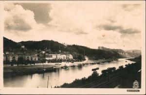 Ansichtskarte Bad Schandau Schauffelraddampfer - Stadt 1927 Walter Hahn:2102