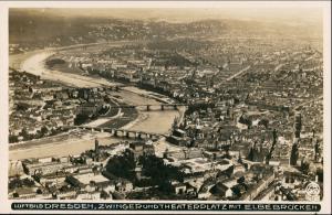 Dresden Luftbild gr  Höhe Striesen Blasewitz Johannstadt 1927 Walter Hahn:6637
