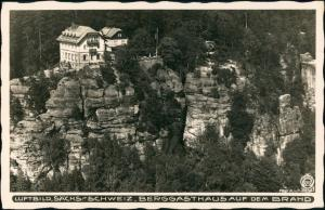 Ansichtskarte Brand (Sächsische Schweiz) Restaurant 1928 Walter Hahn:8216