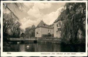 Dürrröhrsdorf-Dittersbach Schloß, Brücke 1940 Walter Hahn:11417