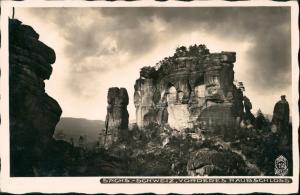 Ansichtskarte Schmilka Frienstein (Vorderes Raubschloss) 1932 Walter Hahn:195