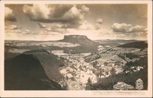 Porschdorf-Bad Schandau Lilienstein und Königstein 1927 Walter Hahn:644