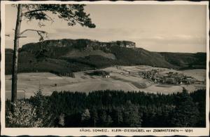 Ansichtskarte Kleingießhübel-Reinhardtsdorf-Schöna Stadt Zschirnstein 1927