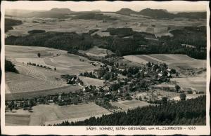 Ansichtskarte Kleingießhübel-Reinhardtsdorf-Schöna Stadtblick 1937
