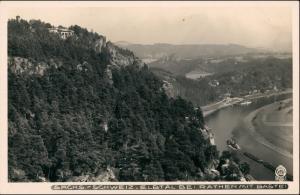 Ansichtskarte Rathen Bastei Dampfer 1928 Walter Hahn:3933
