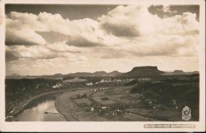 Porschdorf-Bad Schandau Blick v d Rahm-Hanke Lilienstein 1932 Walter Hahn:37