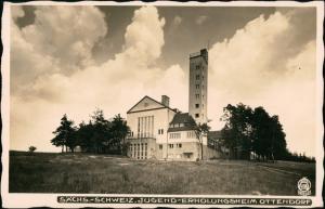Ansichtskarte Ottendorf-Sebnitz Jugenderholungsheim 1934 Walter Hahn:4080