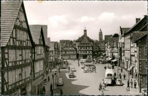 Ansichtskarte Eschwege VW Käfer - Marktplatz 1964