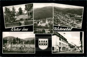 Wehr (Baden) Mehrbild-AK 5 Echtfotos ua. Schwimmbad, Strasse, Totalansicht 1969