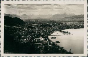 Ansichtskarte Bregenz Blick über die Stadt - Fernsicht 1936