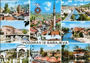 Postcard Sarajevo Mehrbild-AK Olympische Winterspiele 1984 1984