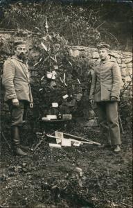 Ansichtskarte  Militaria WK1 Kriegsweihnachten Soldaten 1914