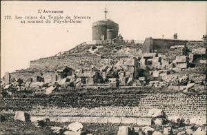 .Frankreich L'AUVERGNE Ruines du Temple de Mercure, Puy-de-Dome 1910