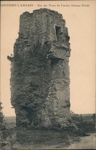 Montfort-l'Amaury Tours de l'ancien Château Féodal/alter Schloss Turm 1910