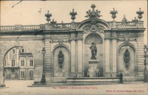 Ansichtskarte Nancy Fontaine et Place Callot 1911