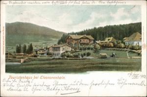 Litho AK Eleonorenhain Lenora Partie am Touristenhaus Böhmen Bohemia 1902