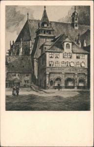 Schwäbisch Gmünd Stadt mit Buchhandlung Joerg nach Radierung W. Romberg 1920