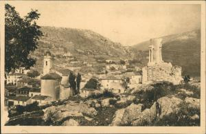 CPA La Turbie Vue générale et Trophée d'Auguste 1910