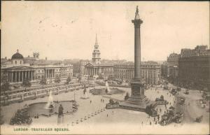 Postcard London Trafalgar Square 1909