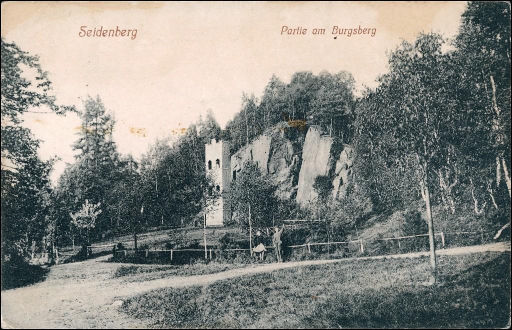 Postcard Seidenberg Zawidów Auf dem Burgsberg 1918 0