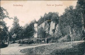 Postcard Seidenberg Zawidów Auf dem Burgsberg 1918