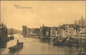 Postcard Danzig Gdańsk/Gduńsk Hafenpartie 1908