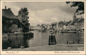 Postcard Königsberg (Ostpreußen) Калининград Fischmarkt 1929