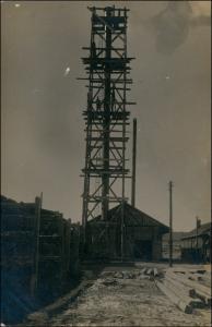 Foto Krakau Kraków Kriegsgefangenenlager Turm 1918 Privatfoto