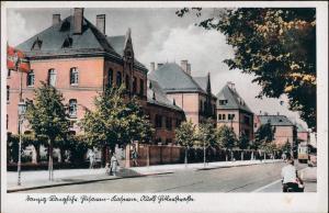 Postcard Langfuhr-Danzig Gdańsk/Gduńsk Straßenpartie - Kaserne 1940
