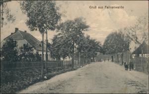 Falkenwalde (bei Stettin Pommern) Falkenwalde Straßenpartie 1916