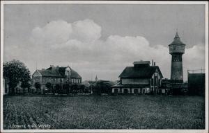 Postcard Lobsens Łobżenica Fabrik und Wasserturm b Schneidemühl Wirsitz 1932