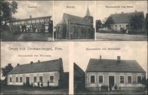 Konstantinopel Pommern Dolice (Dobrzany) Gasthof  Häuser Stargard Stettin 1907