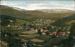 Krummhübel Karpacz Panorama-Ansicht Dorf mit d. Teichrändern Riesengebirge 1910