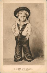 Ansichtskarte  Künstlerkarte Kaiser Wilhelm II. als Kind (anno 1861) 1920