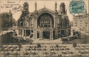 Ansichtskarte Mannheim Rosengarten - Festhalle 1907