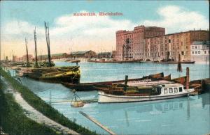 Ansichtskarte Mannheim Yachten und Segelboot 1913
